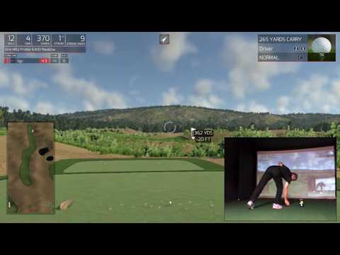 Playing a round of golf at Erin Hills (U.S. Open 2017) on SkyTrak and TGC