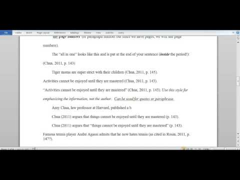 How to in text cite in an essay?
