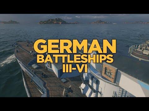 World of Warships - German Battleships III-VI