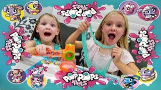Smashing Open Slime Filled Pop Pops Pets Surprise Toys!!