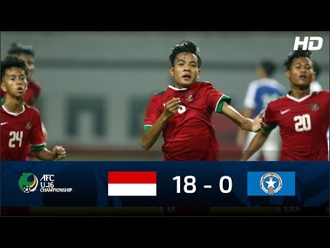 [FULL HD] Indonesia U16 (18) VS (0) Mariana U16 | Highlight AFC U16