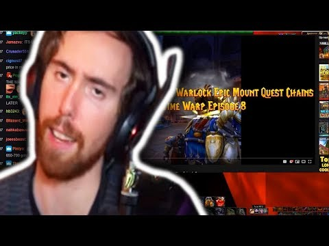 "Asmongold Watches ""The Old Paladin & Warlock Epic Mount Quest Chains - Time Warp Episode 8"""