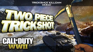 INSANE TWO PIECE TRICKSHOT IN GUN GAME! (3 Trickshots) - Call of Duty: WW2 Trickshotting