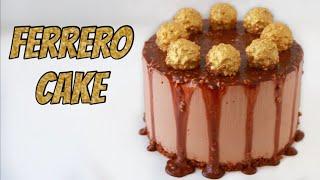 עוגת מוס פררו עם מפל שוקולד - פשוט וקל | אין מושלם כזה!
