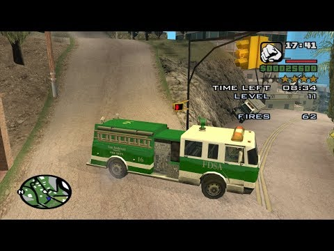 Chain Game 117 mod - GTA San Andreas -How to do the Firefighter Mission at  the beginning of the game