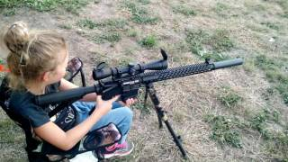 lilly shooting her suppressed 300 blackout