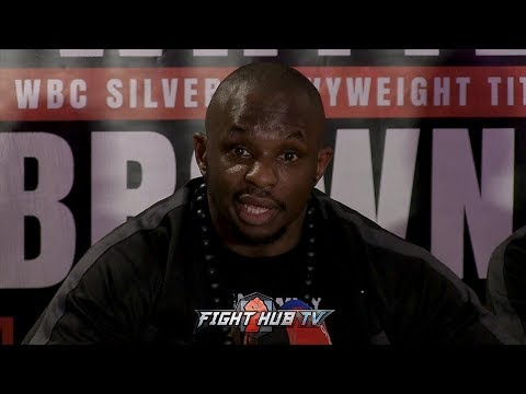 THE FULL DILLIAN WHYTE VS LUCAS BROWNE POST FIGHT PRESS CONFERENCE VIDEO