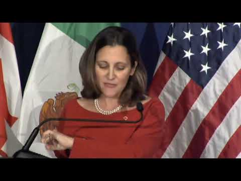 Pt 1 NAFTA Round 4 Joint Press Conference