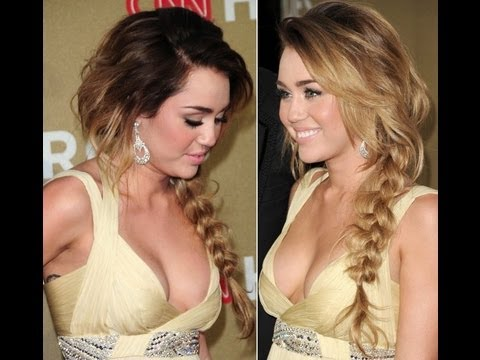 miley cyrus s side braid hair tutorial youtube