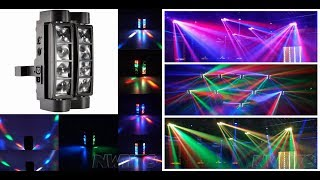 Dj Party bar 8x3w rgbw dmx Mini Led beam spider moving head light
