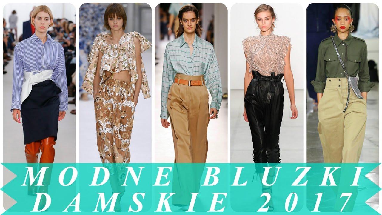 704e549069e7c9 Modne bluzki damskie 2017 - najnowsze trendy w modzie - YouTube