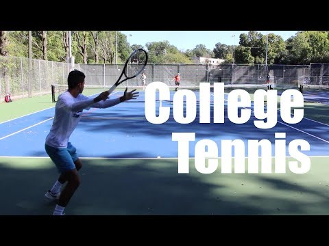 Practice Points With College Tennis Team