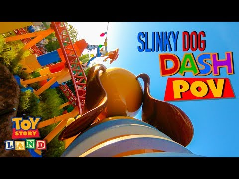 Slinky Dog Dash FULL Front Seat POV On Ride- Toy Story Land Disney World