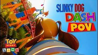 Slinky Dog Dash FULL Front Seat POV On Ride- Toy Story Land Disney World