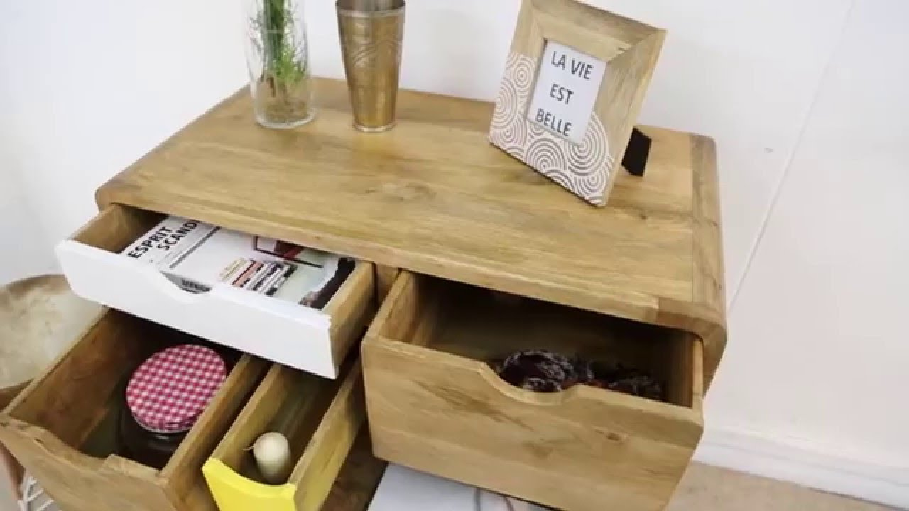 Commode design bois 5 tiroirs youtube - Commode plusieurs tiroirs ...