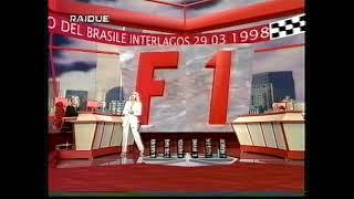 F1 GP Brasile 1998 Simona Tagli legge la classifica