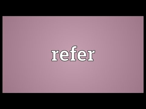 Refer Meaning