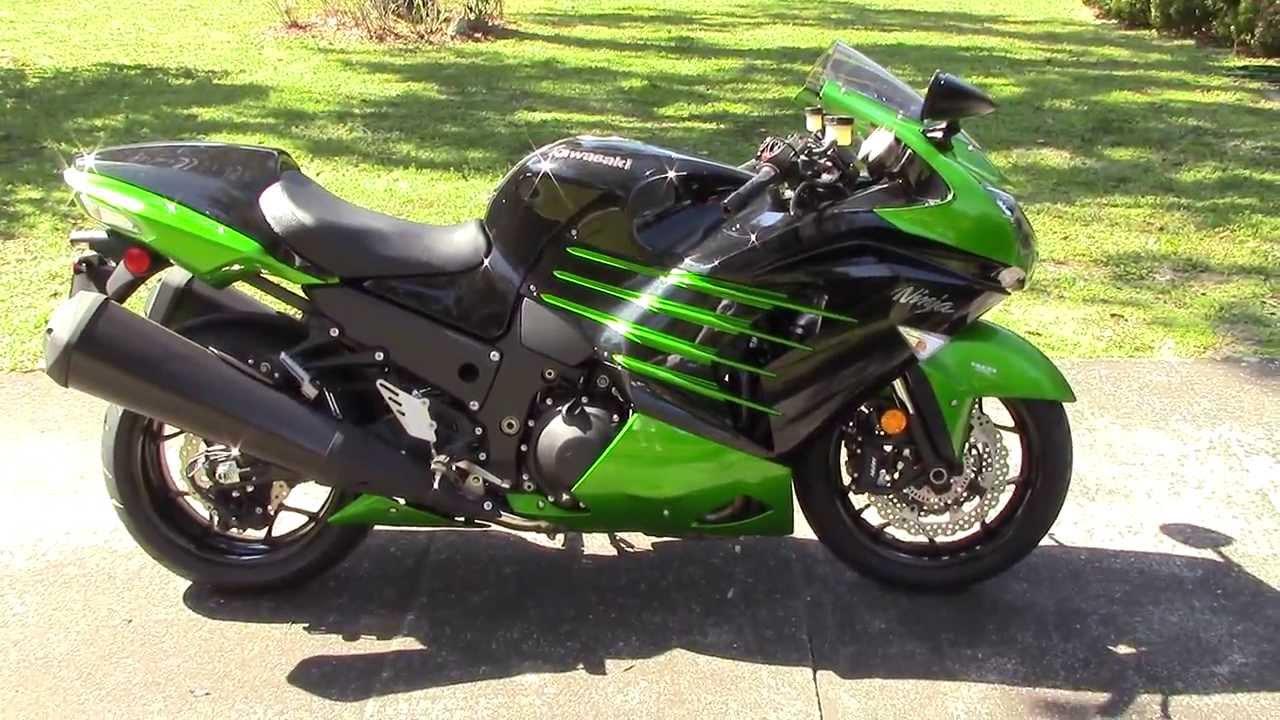 2014 Kawasaki ZX 14R ABS Walk Around Green-Black USA - YouTube