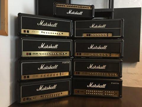 Marshall Thrashfest: JMP, JCM 800, 900, 2000, JVM, Valvestate, ....
