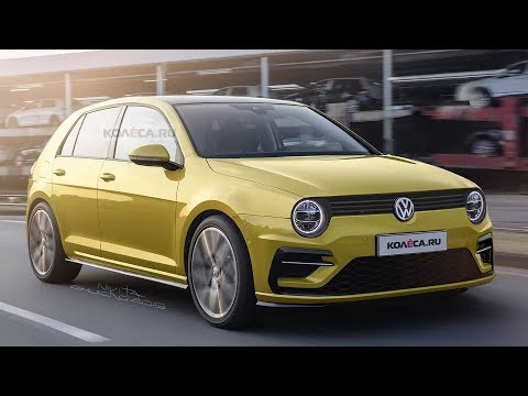 2020 VW Golf Retro Rendering