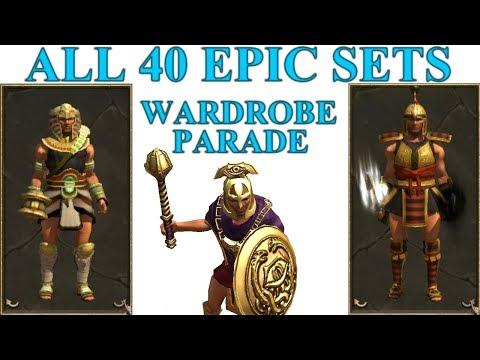 Titan Quest Anniversary All 40 Epic Sets Wardrobe Parade