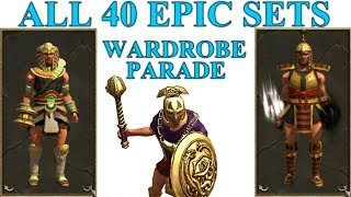 Titan Quest Anniversary All 40 Epic Sets Wardrobe Parade