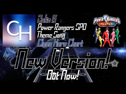 [NEW VERSION] Power Rangers SPD Theme Song | Clone Hero Chart Preview #2