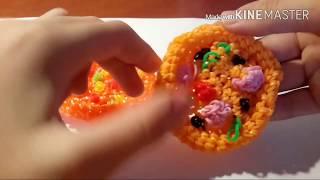 Видео-урок#8 3d пицца лумигуруми из резинок Rainbow Loom (вариант 2)