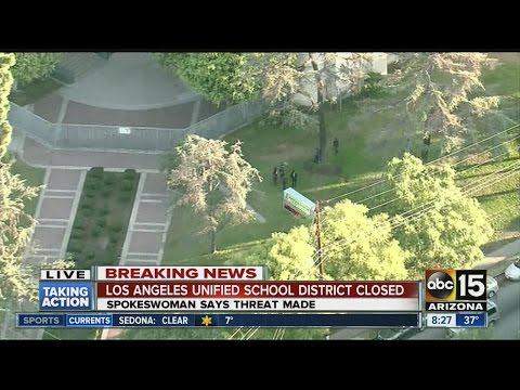 Los Angeles Unified School District schools closed today