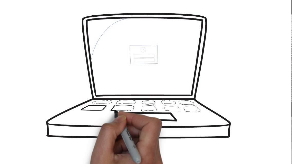 Cómo Dibujar Un Ordenador Portátil Youtube