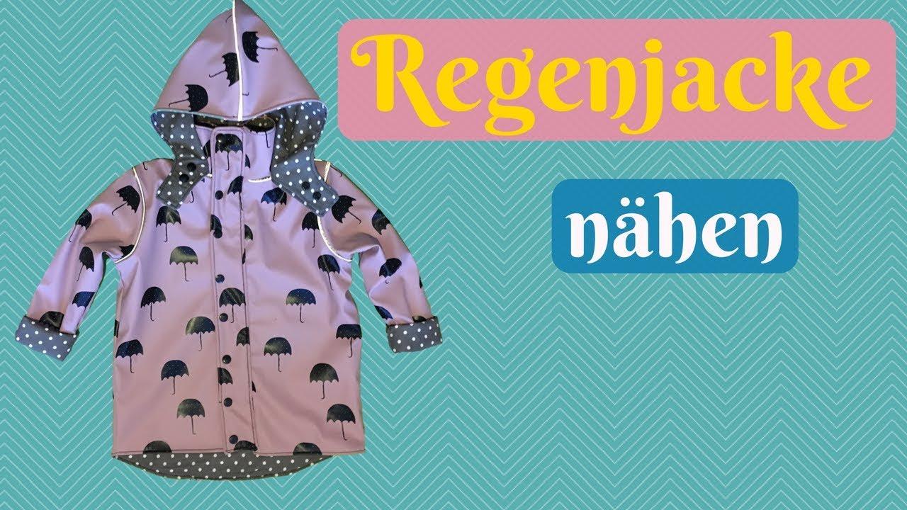 Regenjacke für Kinder nähen - Nähanleitung für eine Jacke mit Kapuze ...