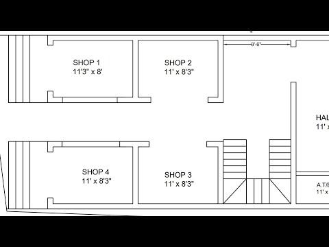 4 shop commercial businesses building plan map naksha