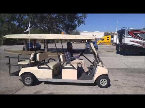 Club Car 2001 Model DS Gasoline Powered Transport Golf Cart