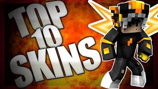 TOP 10 MINECRAFT SKINS PVP + DOWNLOADLINKS (1.8-1.9-PE)
