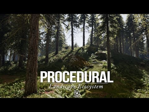Procedural Landscape Ecosystem // Cinematic Trailer (60ᶠᵖˢ)