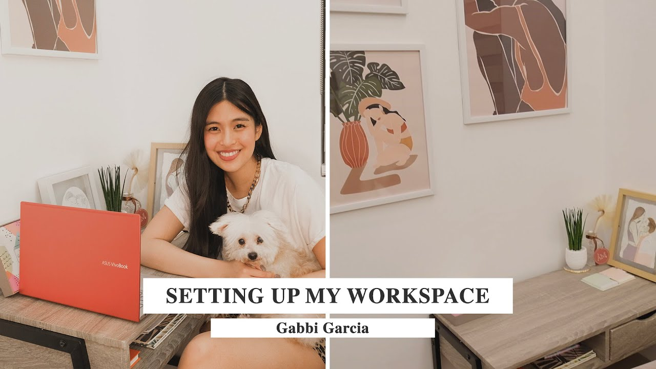 SETTING UP MY WORKSPACE & UNBOXING MY NEW LAPTOP! | Gabbi Garcia