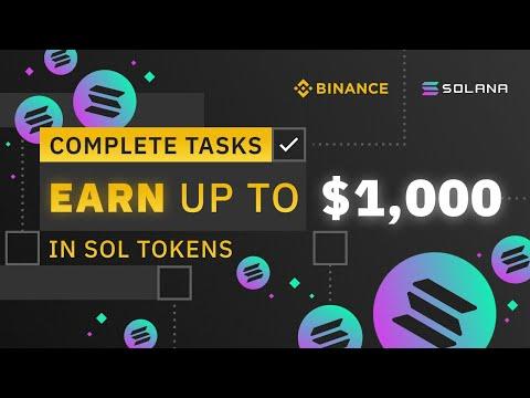 SOLANA AIRDROP BINANCE (SOL) - Получите до 1000$ в токенах SOL / Solana Tokens SOL / Crypto FREE