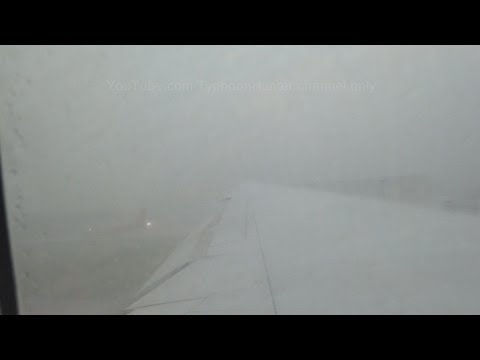 Severe Thunderstorm Take Off Out Of Hong Kong