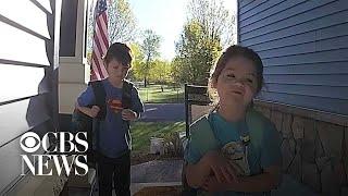 Kids use doorbell camera to talk to dad deployed overseas