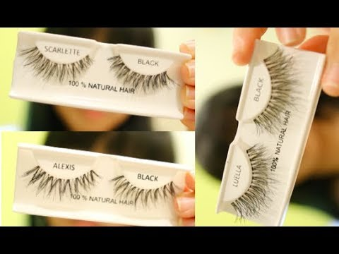 32df1e42068 AOA Studio False Eyelashes Try On & Review - YouTube