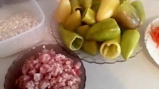 Перец фаршированный мясом и рисом!