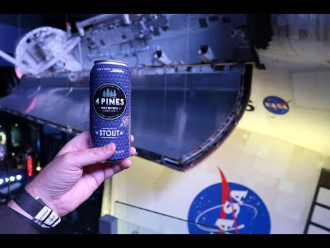 Space Beer! Celebrating Yuri's Night Under Space Shuttle Atlantis At Kennedy Space Center!