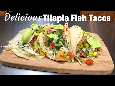 TILAPIA FISH TACOS With Cabbage Slaw | Creamy AVOCADO SAUCE | TEMPURA BATTER For Tilapia
