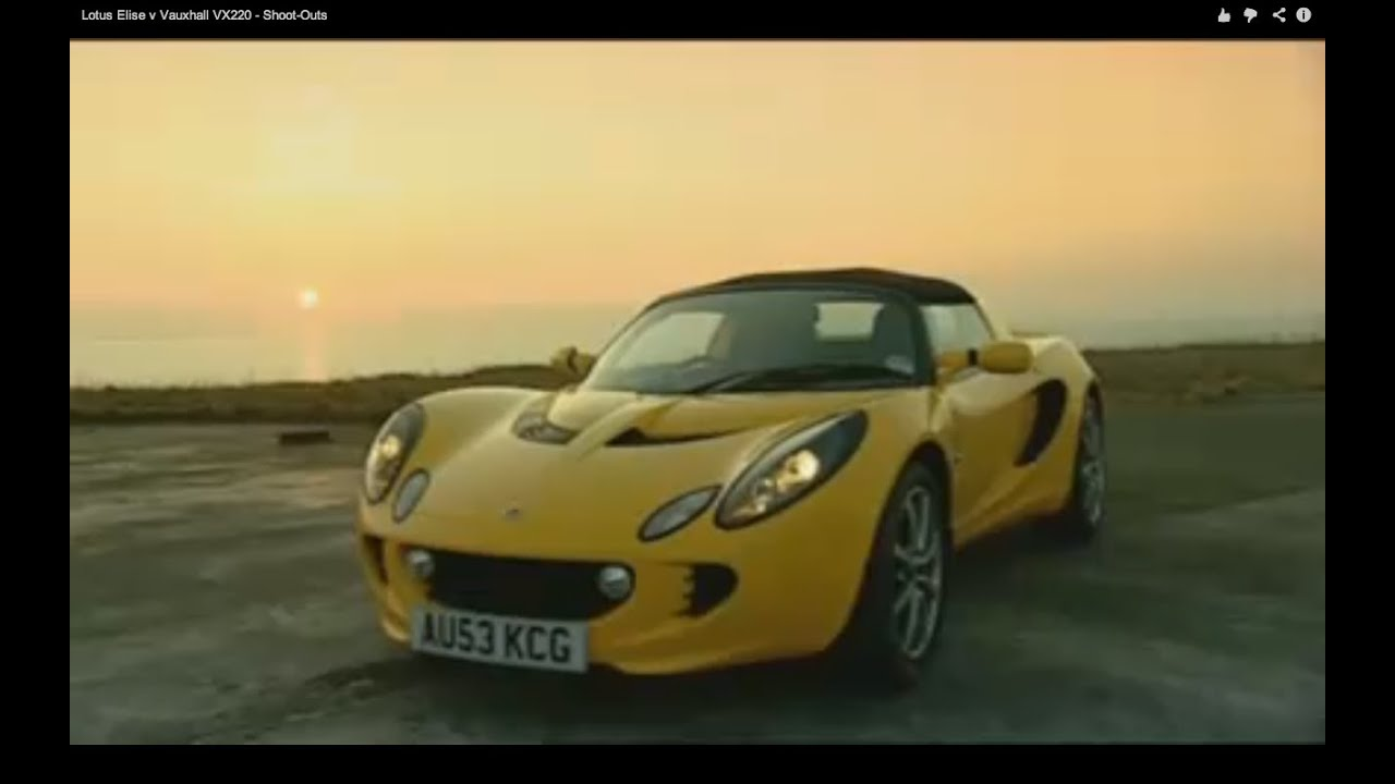 Great Lotus Elise V Vauxhall VX220   Shoot Outs   YouTube