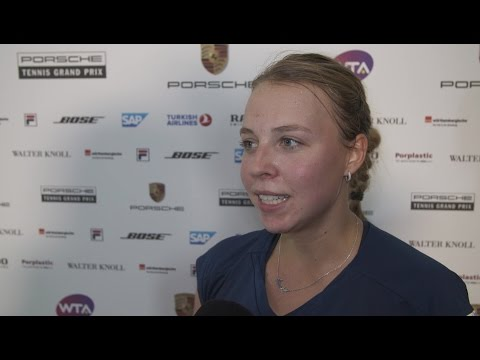 Interview Anett Kontaveit (EST) - Porsche Tennis Grand Prix 2017