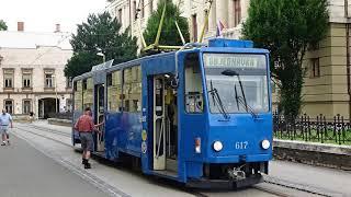 Driver s Eye View Košice Tram Slovakia Route 2 Senný trh to Havlíčkova