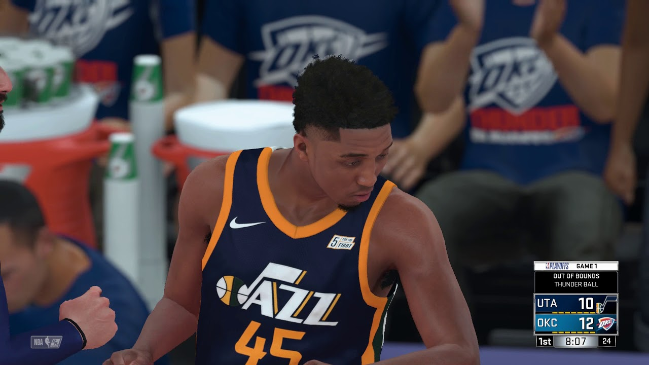 2a8adec3209 NBA 2K18 Western Conference Playoffs 1st Round Utah Jazz vs Oklahoma City  Thunder Game 1
