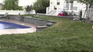 Gorgeous Fiberglass Pool w Retaining Wall Solutions For Sloped Yards1 Thumbnail