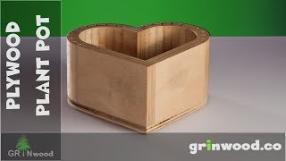 Making a Plywood Plant Pot. How to Bend Plywood with Table Saw?...
