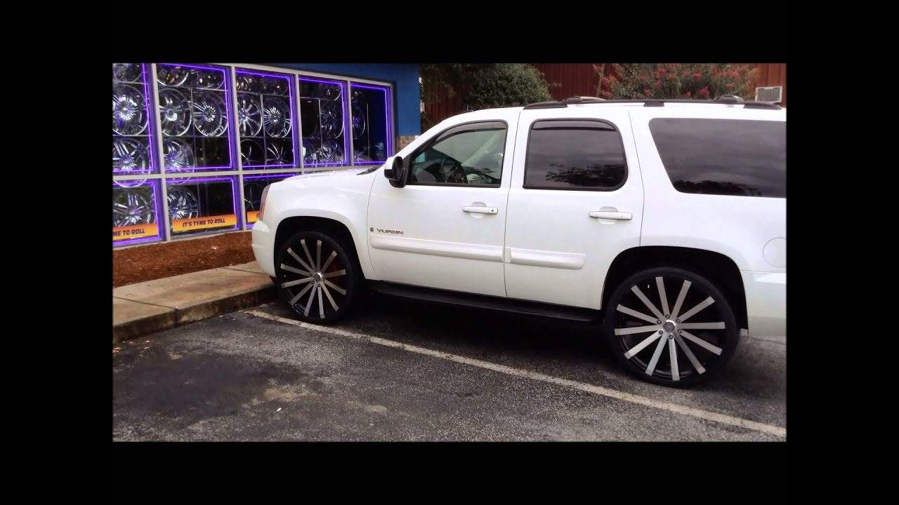 2013 yukon sitting on 26 s inch wheels and tires at rimtyme jonesboro south atlanta youtube